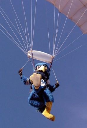 Parachuting Mascot