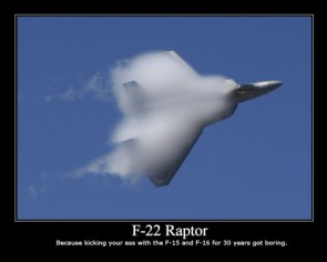 F-22 Motivational Poster