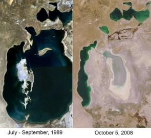 Aral Sea shrinkage