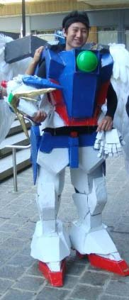 heres the pic without my helmet in my gundam cosplay