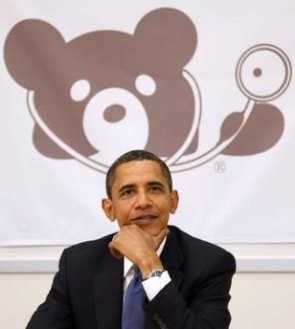 Paedo Bear with the President