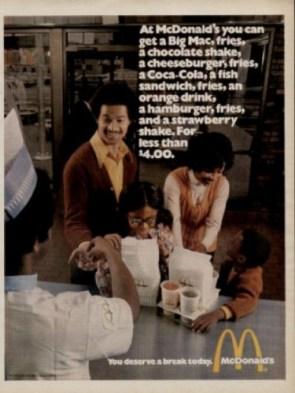 Vintage McDonald`s Ad