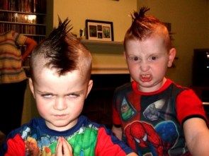 Evil kids with mohawks