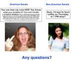 American Females VS Non-American Females