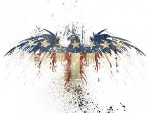 American flag/ eagle
