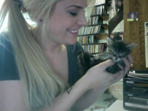 Abby with a kitten