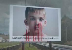 Bleeding billboard