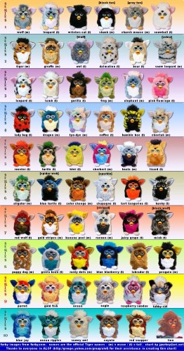 The Many Species of Furby