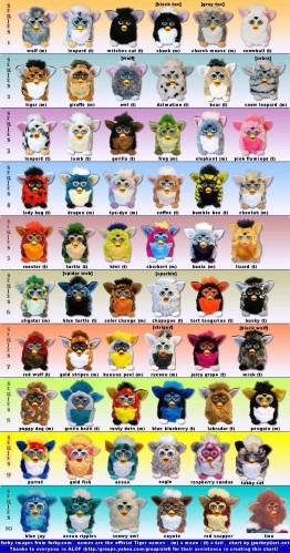 The Many Species of Furby