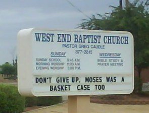 Moses was a basket case too!