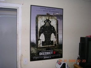 District 9 poster framed (finally)