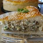 Пита (баница) със зелена леща, картофи и сирене