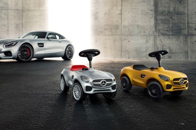 Mercedes AMG GT Bobby-car for kids at Paris Auto Show