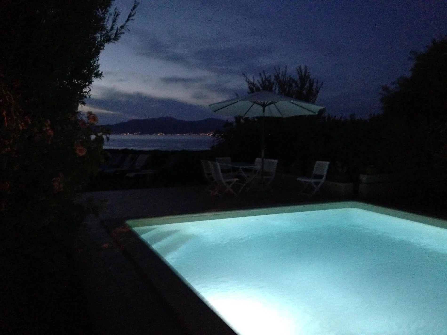 U Castellu Pool Night View