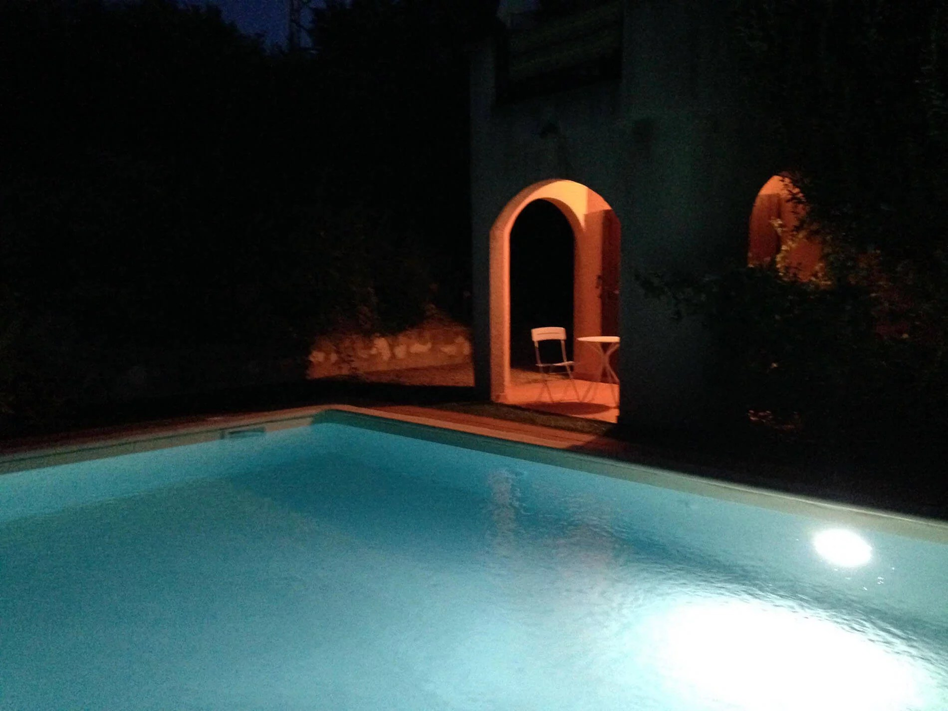 U Castellu Pool in Night