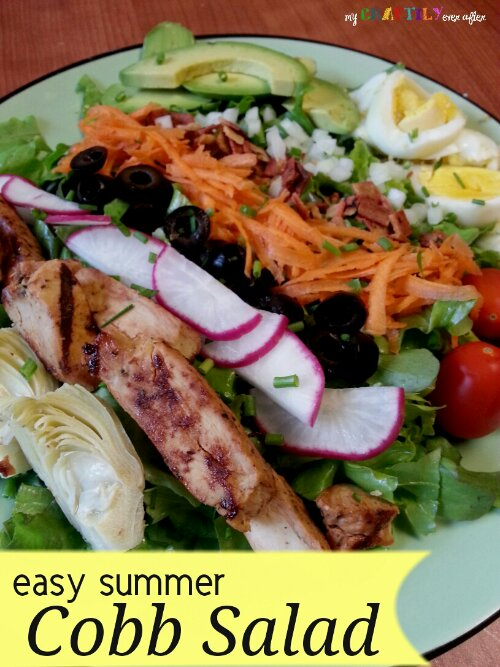 Easy Summer Cobb Salad - My Craftily Ever After