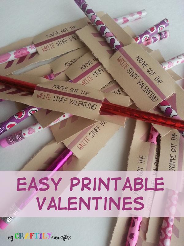 Easy $1 Printable Pencil Valentines