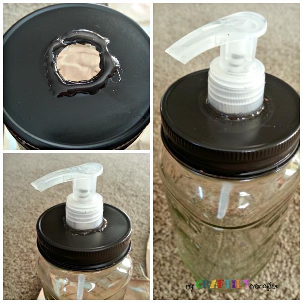 jar soap dispenser how to