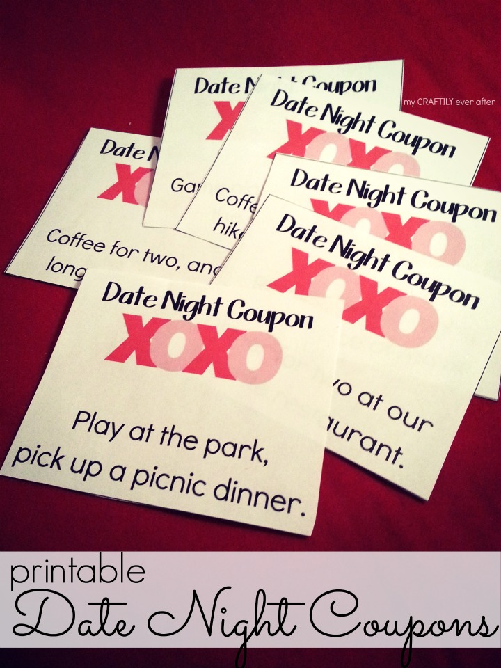 Printable Valentines Date Night Coupons - My Craftily Ever After