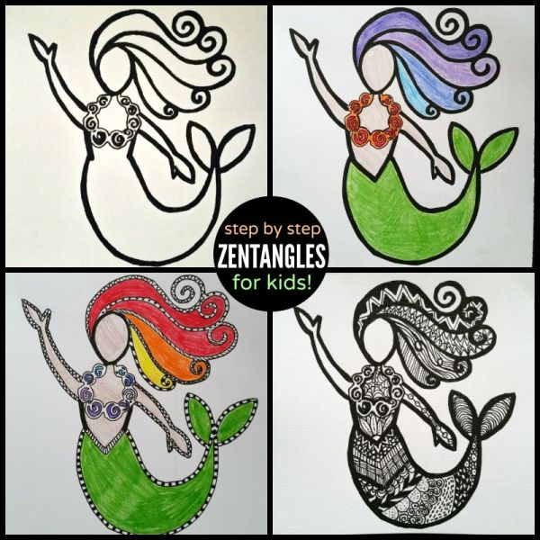 zentangle step by step collage