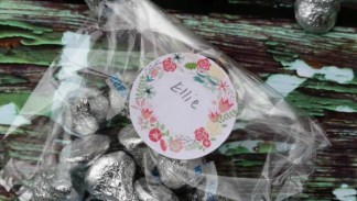 floral treat bag labels