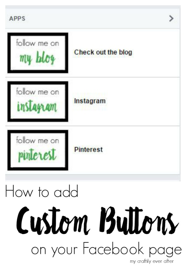 how to add custom buttons on your facebook page