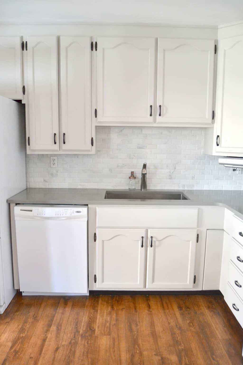 kitchen makeover diy stone tile backplash stone backsplash kitchen Check out this Kitchen Makeover