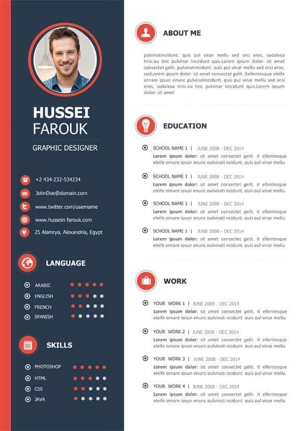 cv template francais download
