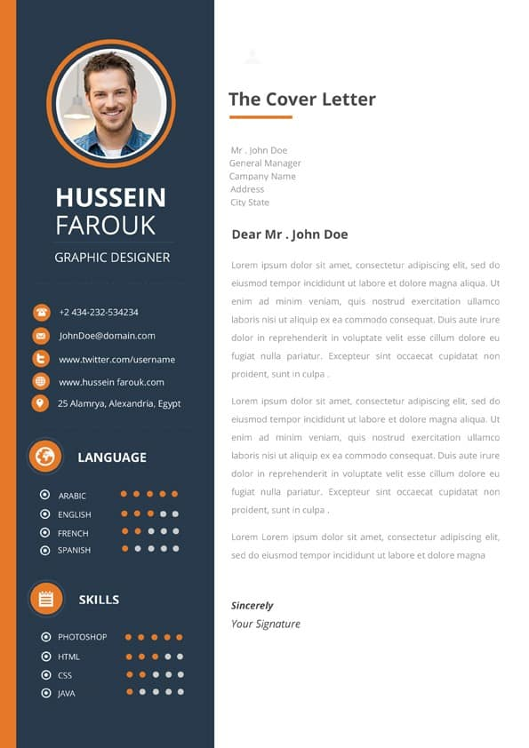 Clean Modern Cover Letter Template - Downloadable Cover Letter