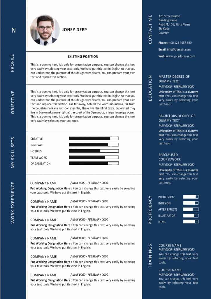 how to do a simple resume for a job