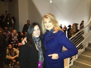 "That's me with Arianna Huffington. I almost dropped down, and did a bowed ""I'm not worthy, I'm not worthy,"" but I kept it together."