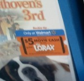 lorax 300x287 Walmart: $5 Off Lorax Movie Ticket WYB Select $5 DVD = FREE Movie!
