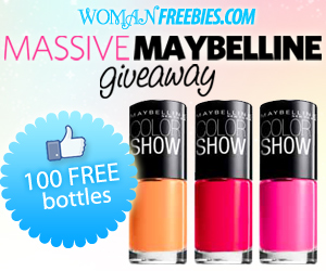 may Enter to Win Free Maybelline Color Show Nail Polish