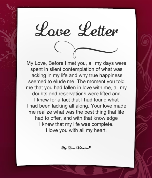 Love Letters for Her, Romantic Love Letter for Girlfriend - love letters for her