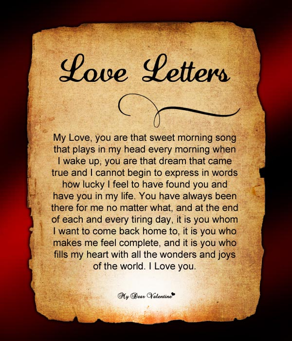 Love Letters, Valentine Love Letters for Her, Funny Love Letters For Him - Love Letter