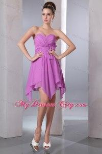 Lavender Sweetheart Handkerchief Hem Dama Dresses for ...