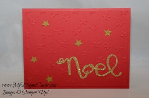 star embossed noel real red