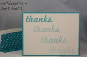 Stampin' Up! Fabulous Four in 4 teal colours