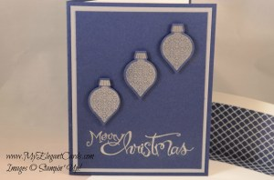 holiday ornaments navy and silver