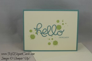Stampin' Up! Hello You Thinlit dies