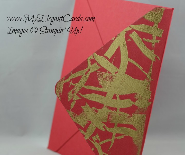 Real red envelope with gold embossed flap