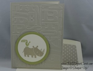 Stampin' Up! Zoo Babies and Alphabet Press TIEF