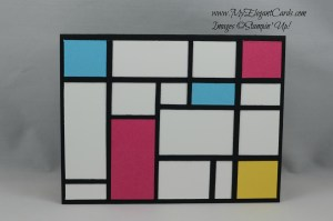 Mondrian background card