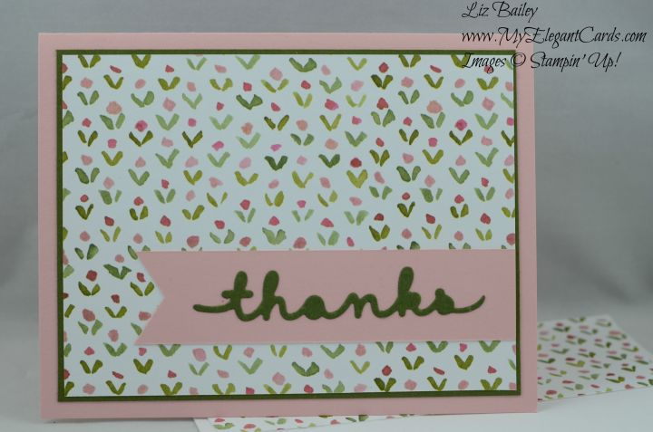Stampin' Up! Greetings Thinlits and English Garden DSP