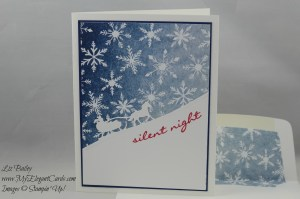 Stampin' Up! Jingle all the way and Season of Cheer DSP and Sleigh Ride framelits dies