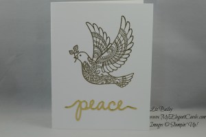 Stampin' Up! Dove of peace and Christmas Greetings thinlits