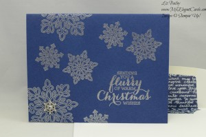 Stampin' Up! Flurry of Wishes and Winter Wonderland Embellishment
