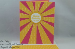Stampin' Up! Sunburst Sayings and Sunburst thinlits die and Party Pop-up thinlits dies