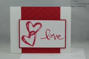 Stampin' Up! Watercolor Words and Happy Heart TIEF
