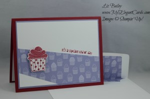 Stampin' Up! Cup Cake Party and Have a Cuppa DSP and cupcake builder punch